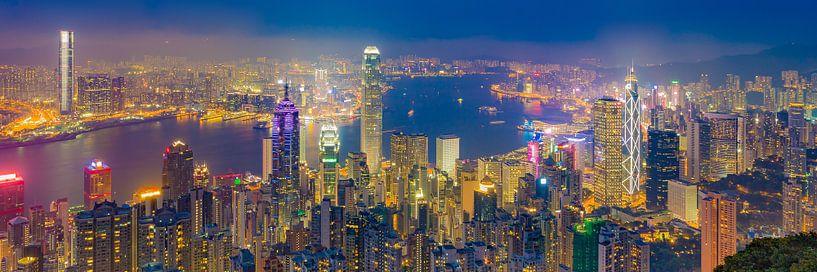 Hong Kong by Night - Victoria Peak - 4 van Tux Photography