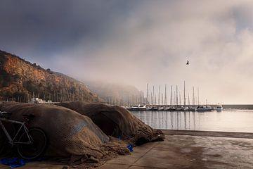 Vissersboot in de Mist van Erik Groen