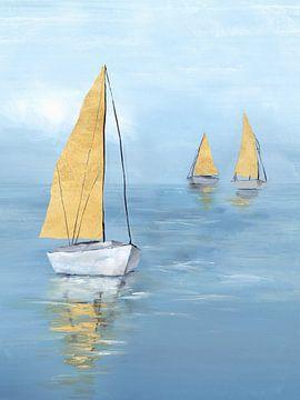 Golden Sail I, Isabelle Z  von PI Creative Art