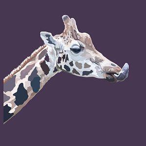Giraf moderne illustratie van Anne Dellaert