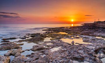 Sonnenuntergang bei Paphos, Zypern von Adelheid Smitt