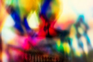 Abstracte kleuren van Inge Vel