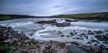 IJsland eenzame visser van