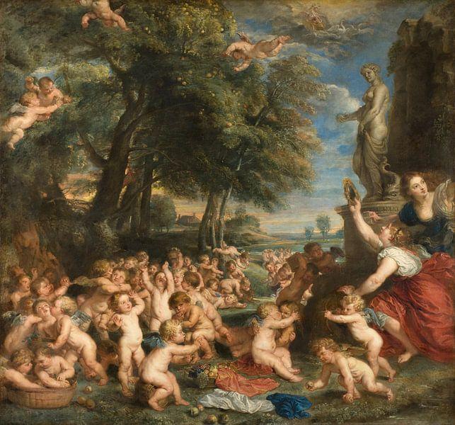 Die Verehrung der Venus, Peter Paul Rubens von Meesterlijcke Meesters