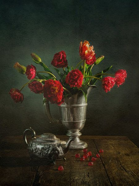 Rot ist die Farbe der Liebe.... von Miriam Meijer, en plein campagne.....