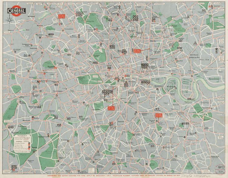 Map of general routes - London van Rebel Ontwerp