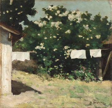 Ștefan Luchian~Auf der Rückseite des Hofes