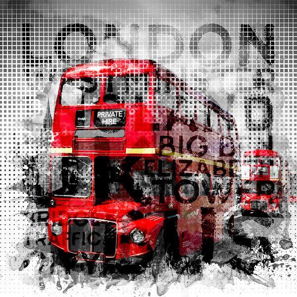 Graphic Art LONDON WESTMINSTER Buses | Typography van Melanie Viola