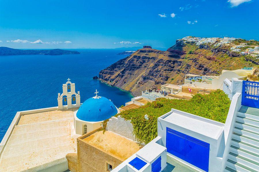 Firostefani en Imerovigli, Santorini (Griekenland)