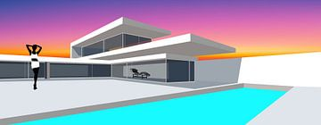 Hommage an Le Corbusier von Harry Hadders