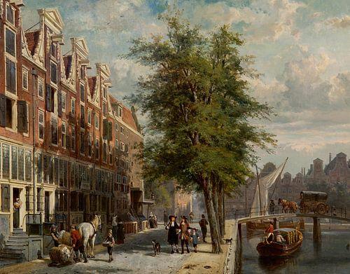 Stadsgezicht van Amsterdam - Cornelis Springer