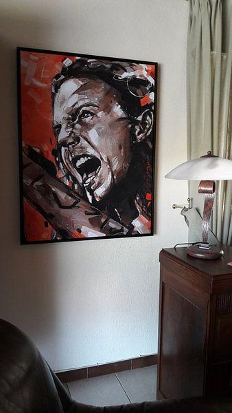Kundenfoto: Eddie Vedder, Pearl Jam Gemälde von Jos Hoppenbrouwers, auf leinwand