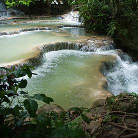 Kouang Si Waterfall sur Roland de Zeeuw fotografie