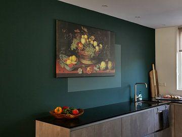 Kundenfoto: Stillleben eines Korbes mit Früchten, Balthasar van der Ast