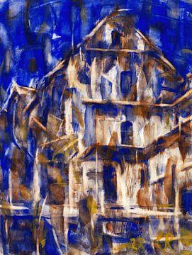 Häuser im Tessin, Christian Rohlfs, 1928