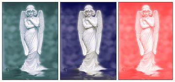 Drieluik drie engelen van Ina Hölzel