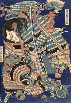Vechtende helden, Katsushika Hokusai