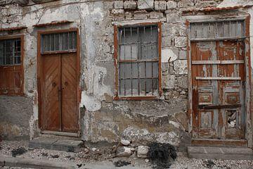 Vervallen huis Rodos Griekenland von jono broers