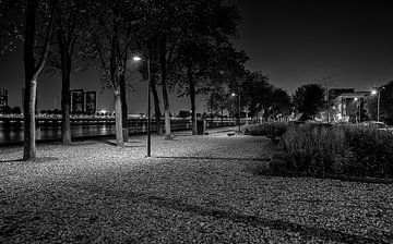 Parkkade in zwartwit van