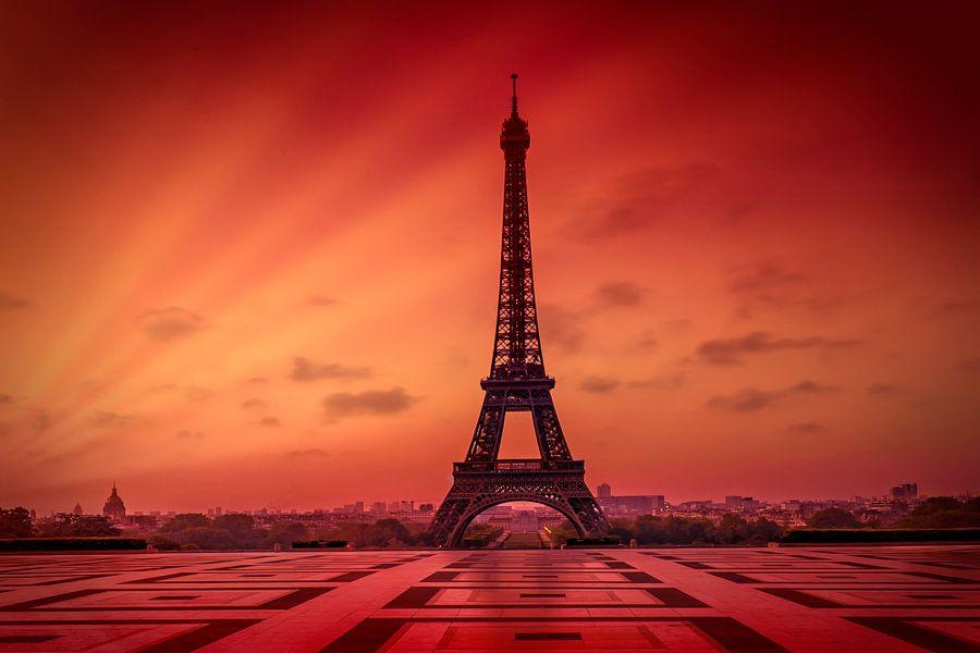 Eiffeltoren bij zonsopgang van Melanie Viola