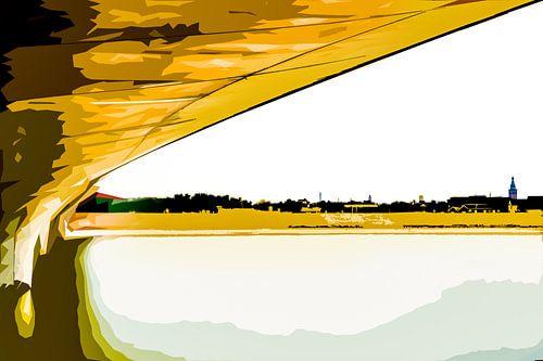 Onder de brug van Nijmegen