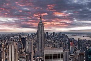 Manhattan Abendhimmel van