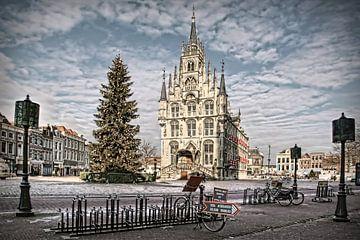 Gouda Stadhuis in de winter van Annie Snel