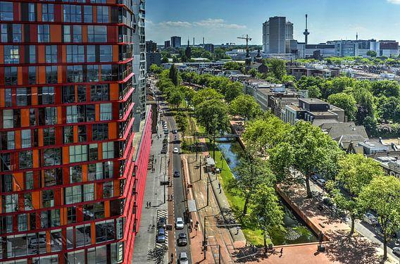 De Westersingel in Rotterdam van Frans Blok