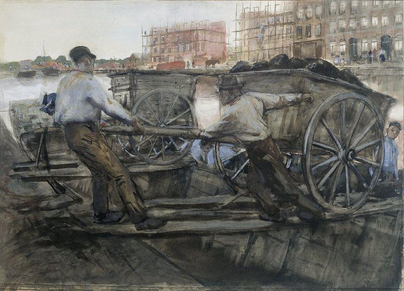Baustelle, George Hendrik Breitner, um 1900 von Marieke de Koning
