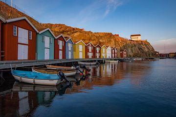 Farbige Lagerhäuser Hafen von Jacco van Son