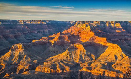 Zonsondergang bij de Grand Canyon, VS