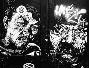 Zwart wit graffiti