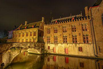 Bruges Kanal bei Nacht von Gea Gaetani d'Aragona