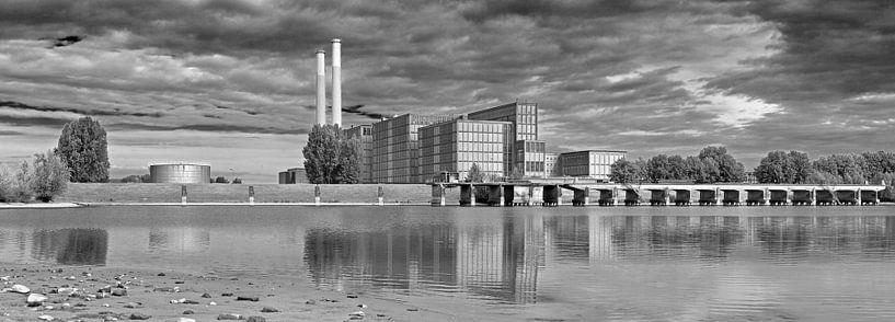 Panorama IJsselcentrale Zwolle van Anton de Zeeuw
