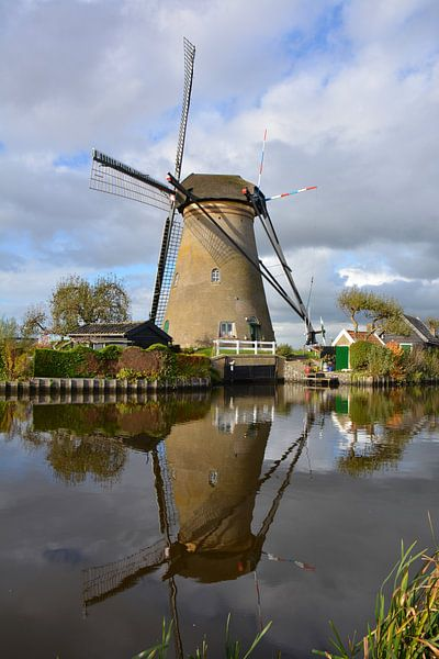 Moulin et réflexion Kinderdijk sur My Footprints
