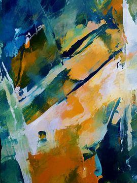 Abstrakte Komposition 1211 von Angel Estevez