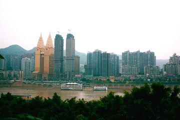De skyline van Chongqing von André van Bel