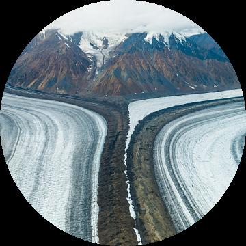 Luchtfoto van de Kaskawulsh-gletsjer van Denis Feiner