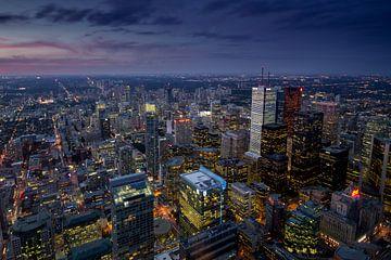 Downtown Toronto from CN Tower van Rene Ladenius Digital Art