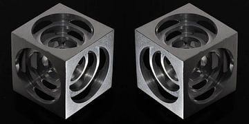 3D Hollow Metal Cube von Bob de Bruin