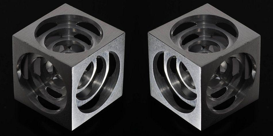 3D Hollow Metal Cube