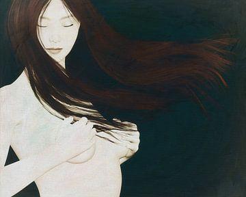 Naakte vrouw dromend