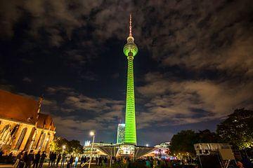 La tour de télévision de Berlin sous un jour particulier sur Frank Herrmann