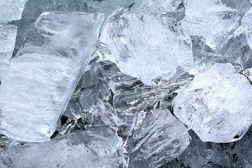 Collage van kruiend ijs, Urk van