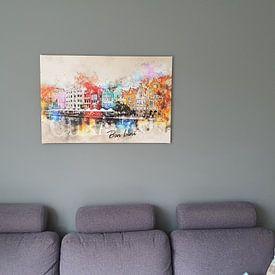 Klantfoto: Bon bini Curacao! van Sharon Harthoorn, op canvas