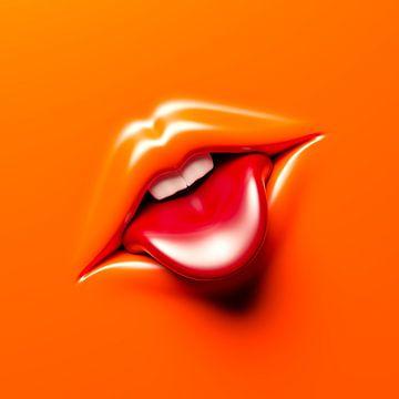 Rausgestreckte Zunge Comic von Jörg Hausmann