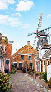 Het dorp Winsum in de provincie Groningen, Nederland van Visiting The Dutch Countryside