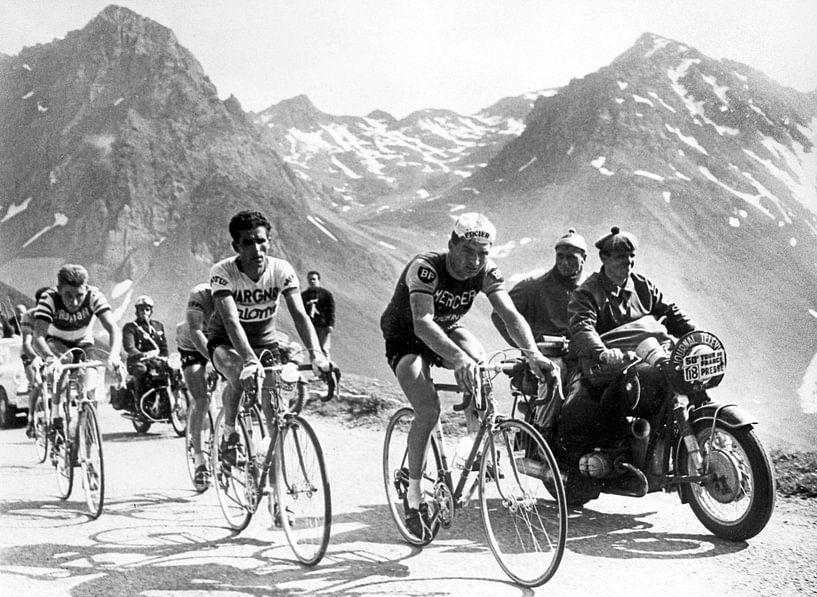 Tour de France 1963: Anquetil, Bahamontes en Poulidor van Bridgeman Images