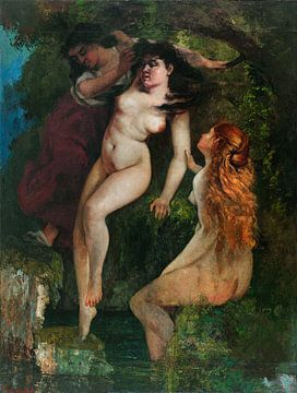 Drei Badende, Gustave Courbet, 1865 - 1869 von Atelier Liesjes