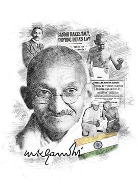 Mahatma Gandhi van Theodor Decker